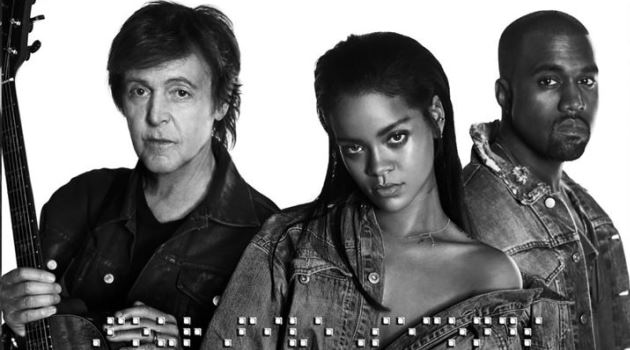 Mira video de Rihanna con Paul McCartney y Kanye West