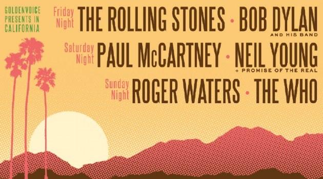 Confirmado: McCartney, Stones, Who, Dylan, Neil Young y Waters en Desert Trip Festival