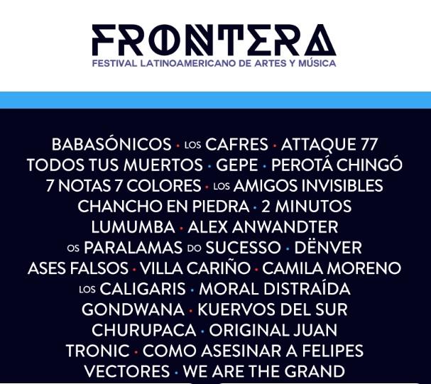 line up frontera 2017