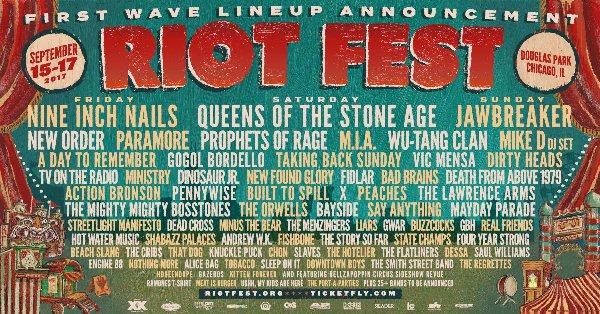 riot fest line up