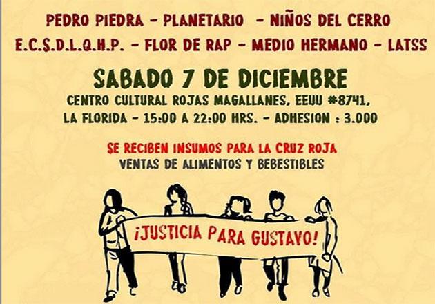 Niños del Cerro, ECSDLQHP, Medio Hermano y más en evento a beneficio de Gustavo Gatica