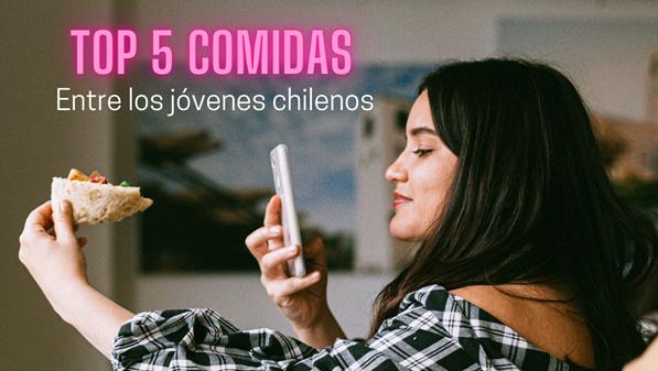 Las top 5 comidas a domicilio entre los jóvenes chilenos
